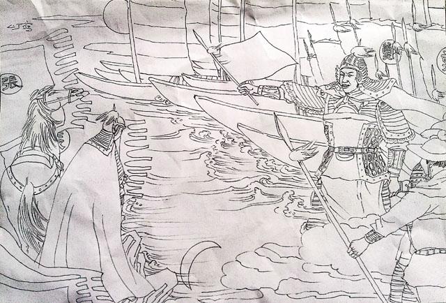 江南风景手绘画